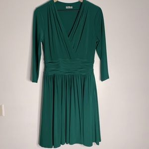 Eliza J Emerald Green Long Sleeve V Neck Dress 10